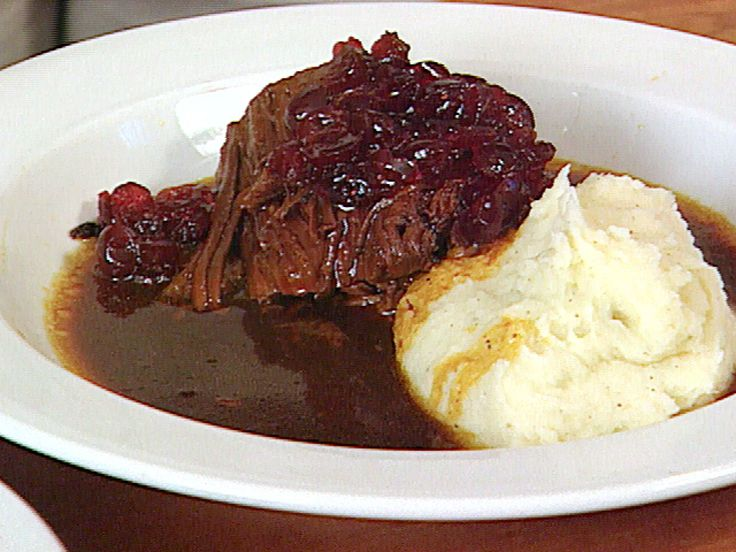 Shaker Cranberry Pot Roast recipe from FoodNation with Bobby Flay via Food Network