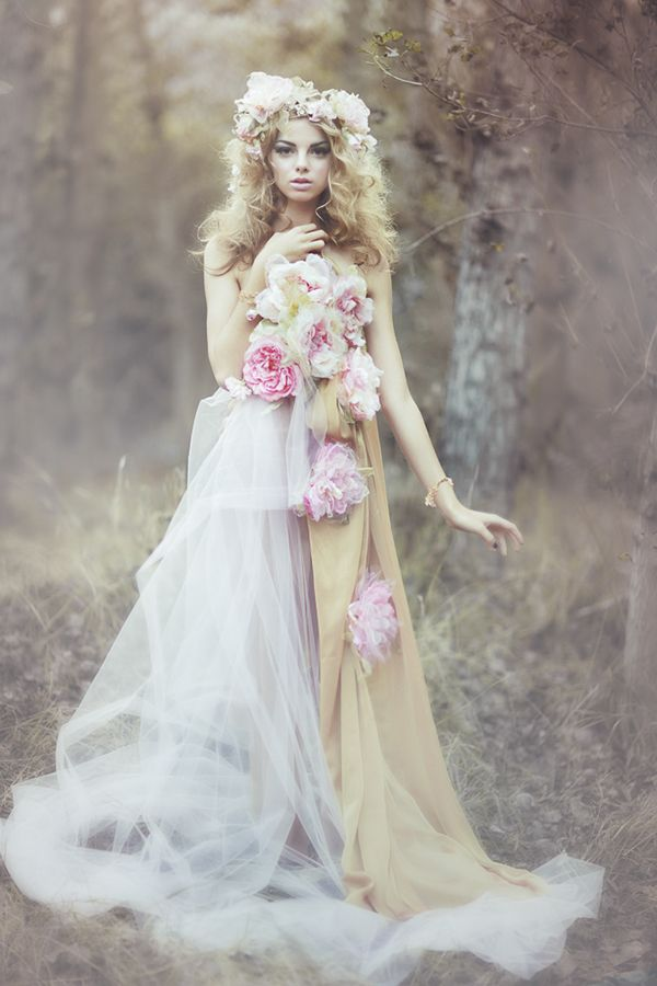 """""""The Wild Rose Fairy"""" photo shoot featuring Allie Evans at LA Models."""