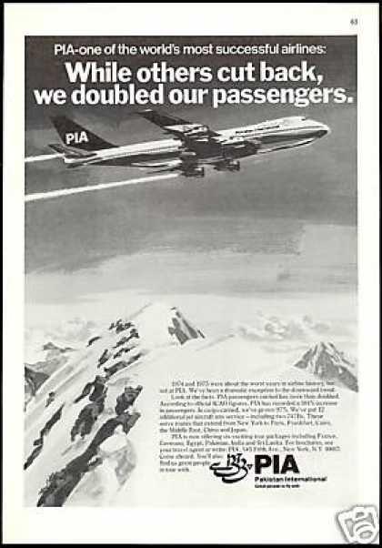 PIA Pakistan International Airlines 747 Plane (1977)