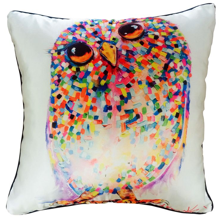 Owl Take 2 Cushion Cover by Tracey Keller