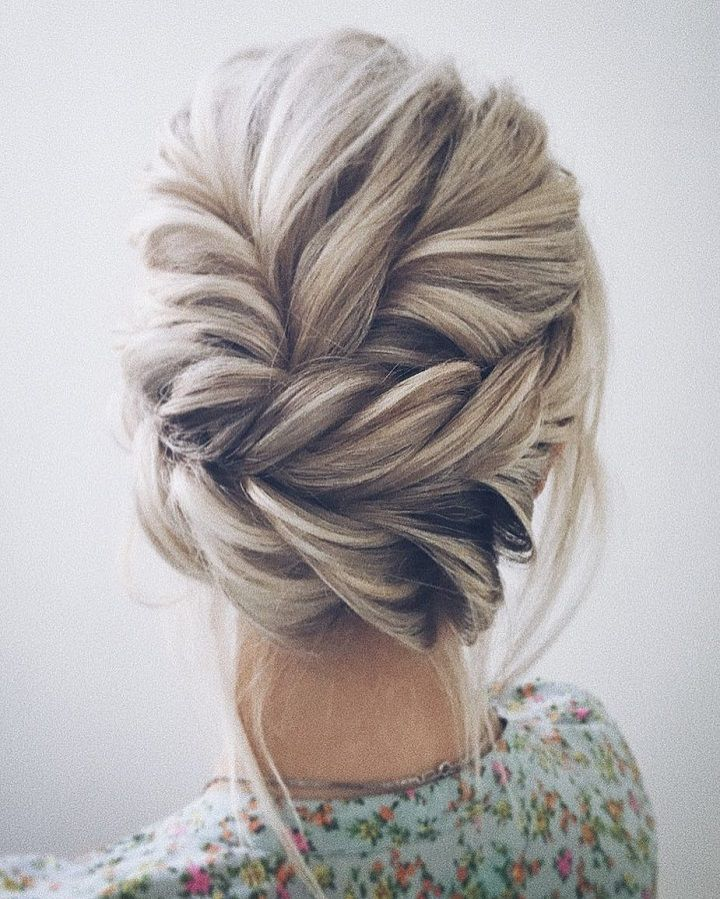 Beautiful updo bridesmaid hairstyle idea
