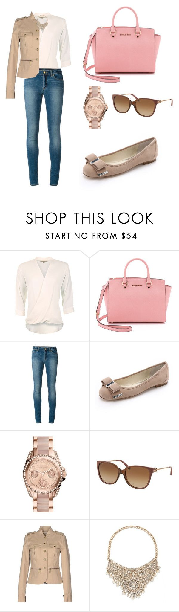 """Pink Michael Kors"" by tania-alves ❤ liked on Polyvore featuring мода, MICHAEL Michael Kors и Bebe"