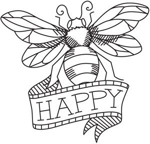 Bee Happy | Urban Threads: Unique and Awesome Embroidery Designs