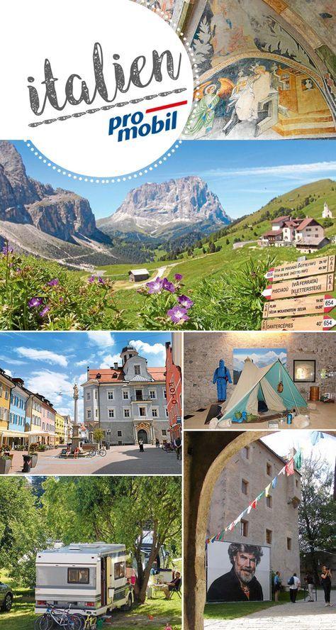 #Wohnmobil-Tour #Südtirol #Messner Mountains in #Bruneck  Beeindruckende Bergwelten kann man in Südtirol gleich in mehrfacher Hinsicht genießen: in der freien Natur und in einem von sechs Messner Mountain# Museen der #Bergsteigerlegende in Buneck.