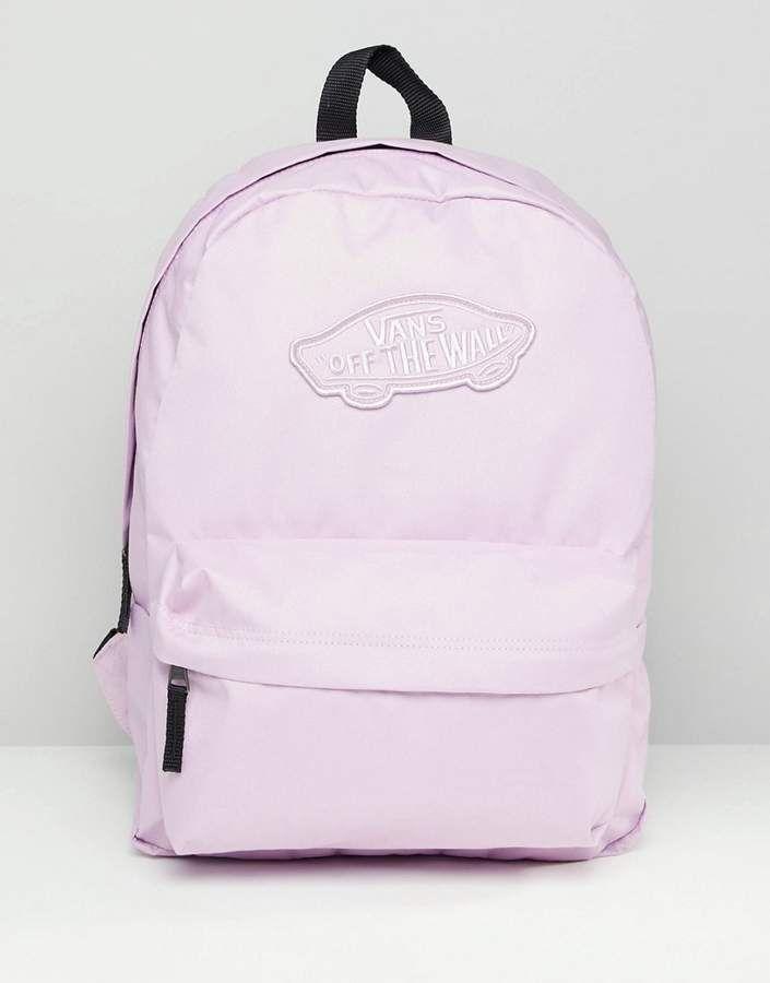 8ffaf6904 Vans Realm Pink Backpack | Backpacks in 2019 | Vans backpack, Vans ...