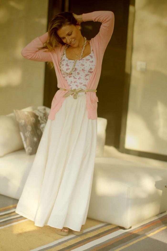 Linda combinação branco e rosa! Amoooo