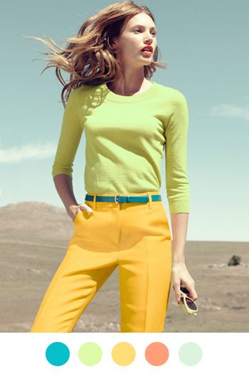Lemon Limes, Colors Combos, Style, Spring Colors, J Crew, Colors Combinations, Colors Schemes, Jcrew, Bright Colors