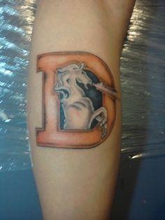 Image result for denver broncos tattoos images
