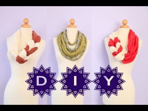 How To DIY Scarves Twisted / Braided Style {No Sew EASY}. You can use t-shirts or some fabric.