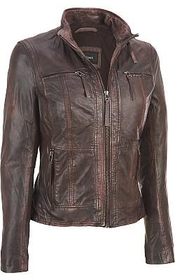 Wilsons Leather - Black Rivet Strausse Lamb Scuba Jacket - Style# WWBM2695 $320