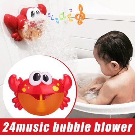 Crab Bubble Machine Musical Bubble Maker Bath Baby Toy Bath Shower Kids Fun Toy