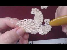 """Уроки вязания крючком ирландского кружева. 1й Урок ВЯЗАНИЕ МИНИКОМПОЗИЦИИ для ПЛАТЬЯ""""Бургундия"""" - YouTube"""