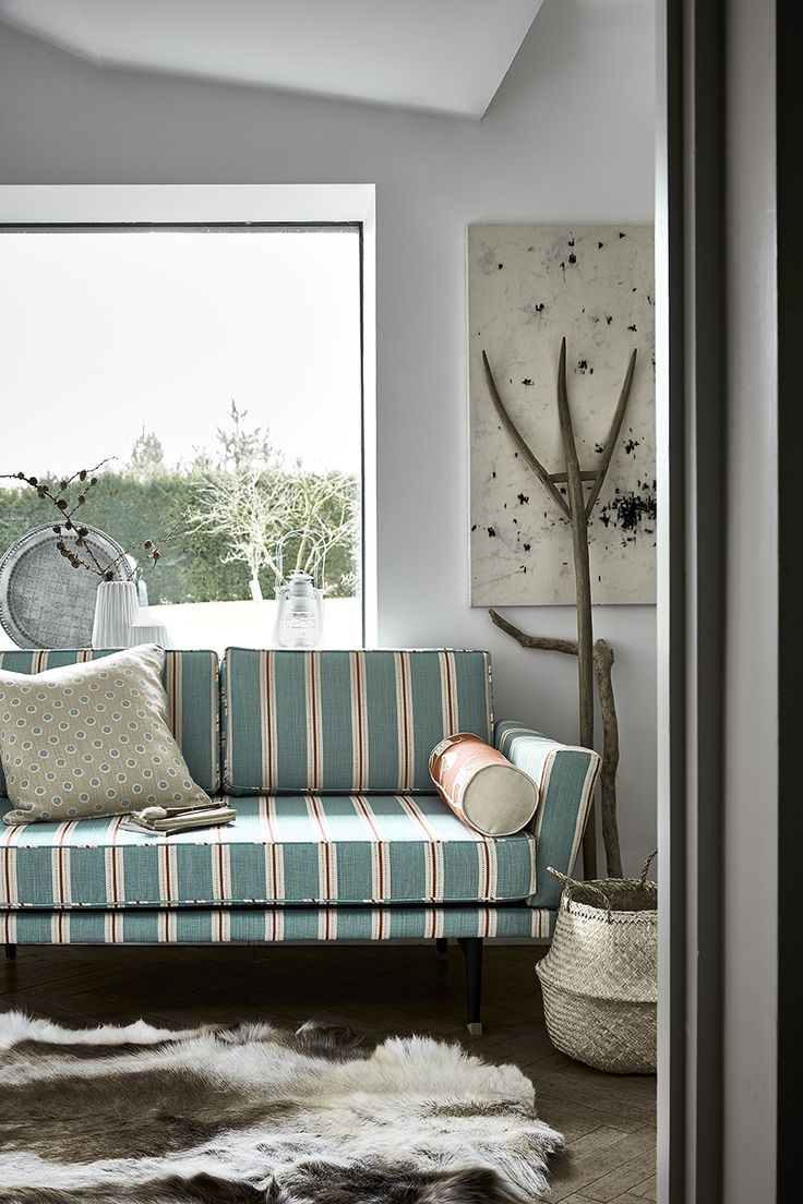 stockholm stripe in teal tomato and winter adds a splash of colour