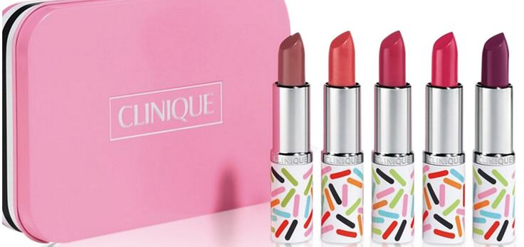 Clinique Long Last Lipstick Gift Set Full Size Limited Edition. 5 Full Size Clinique Long Last Lipsticks Gift Set Limited Edition Colors: Jolly Bean, Berry Bon Bon, Gingersnappy, Taffy Pink, Sugar Plummy Matte. Longest-wearing formula. Keeps its just-applied look for hours. Won't feather, creep, stain or dry out.