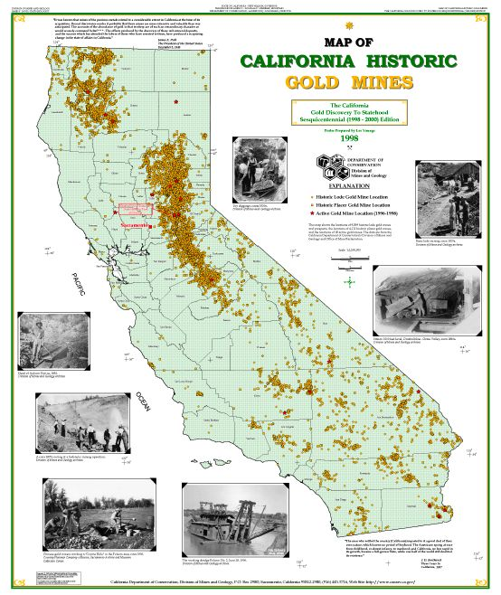 Gold And Silver Mining In Panama Mail: Map Of Historic California Gold Mines