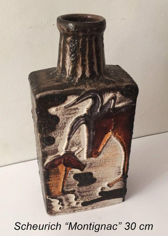Midcentury Vase-Scheurich Montignac-West by buzzyretrokitchen