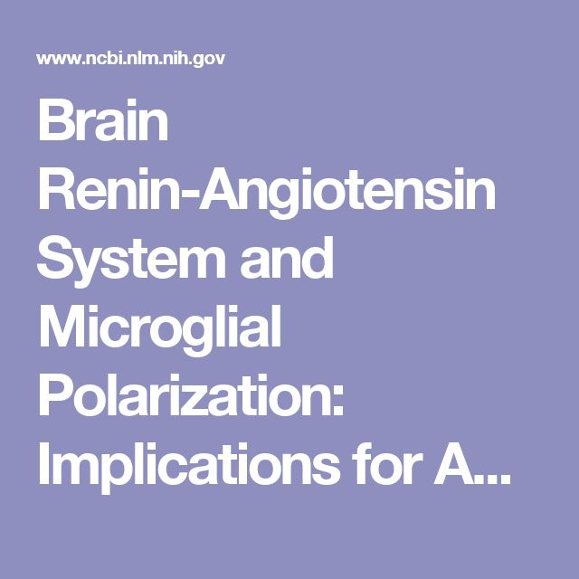 Brain Renin-Angiotensin System and Microglial Polarization: Implications for Aging and Neurodegeneration