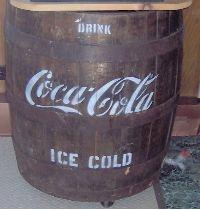 Antique Coca Cola Wooden Barrel