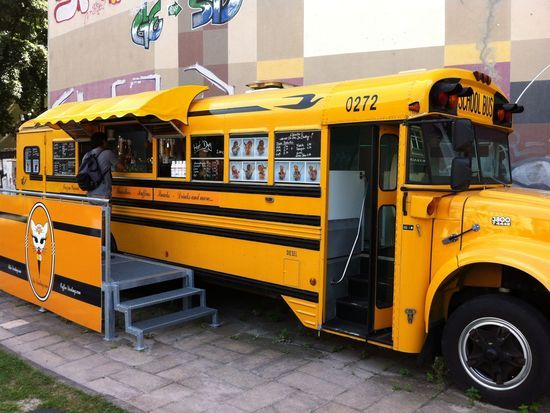 Food Truck concept from a converted school bus!