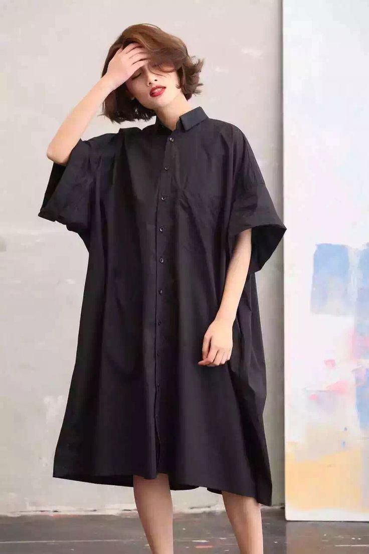 Bat sleeve big dress maxisize loose long dress women's clothes
