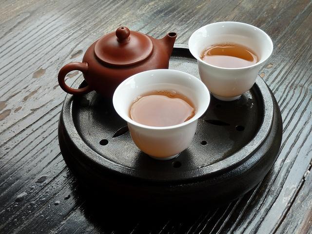 Raw pu'erh tea, Gong Fu style from L.L Arts Decor Tea Gallery, Chinatown, Brisbane.
