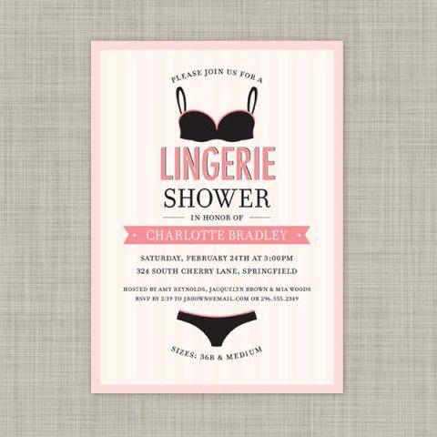 Lingerie Shower Invite