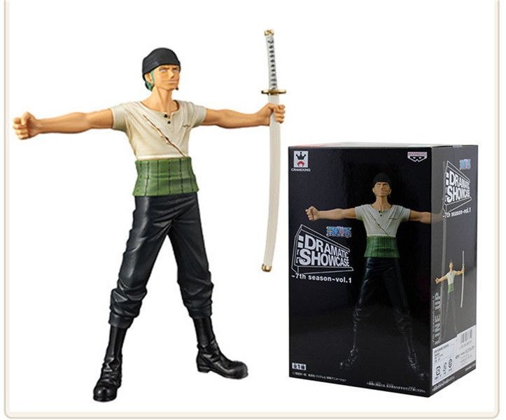 Anime One Piece  Roronoa Zoro Scene version  PVC Action Figure Collectible Model Toy 16cm KT2538 #Affiliate