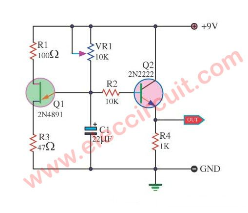 Sawtooth wave generator circuit using UJT - ElecCircuit.com ... on