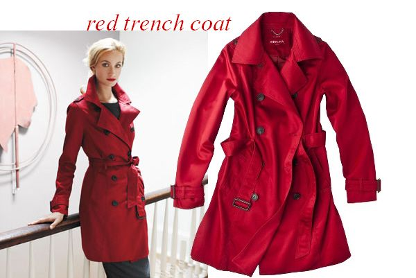 I've decided I need a red trench coat! :)Future Closets, Classy Style, Halloween Costumes, Fall Fashion Styl, Lunches Ideas, Red Trench Coats, Potential Halloween, Fashion Things, Dreams Closets