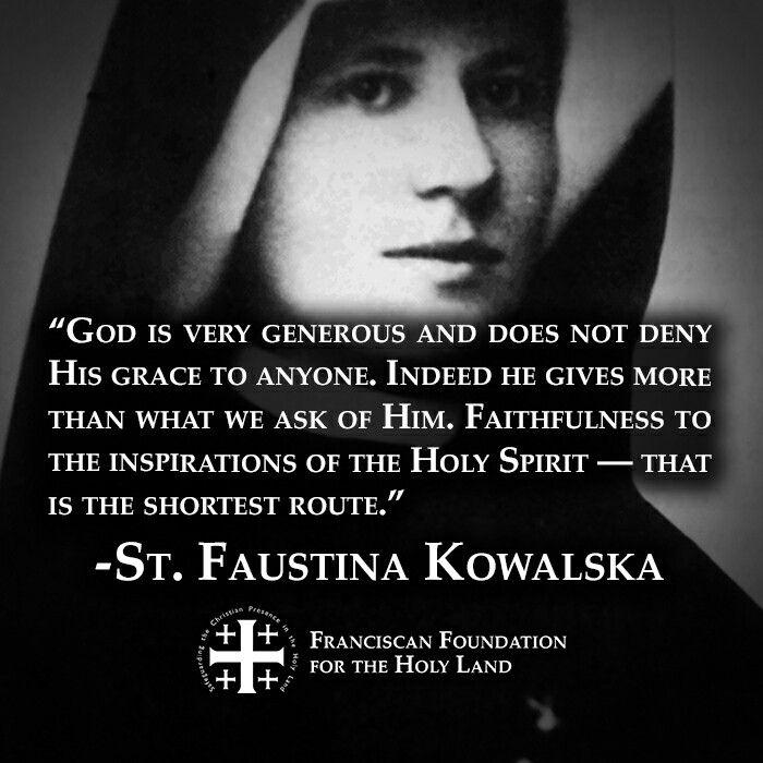 ~St. Faustina Kowalska
