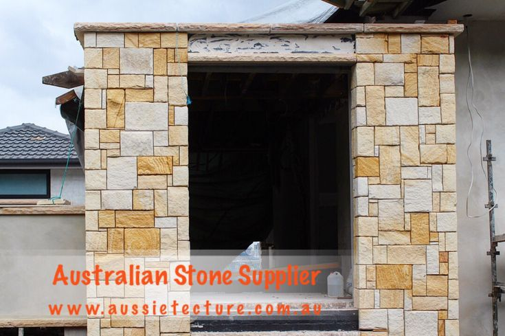 Australian Sandstone Colonial Walling made up of natural sandstone cladding. Available in 4 colors. Sandstone Corner &Sandstone Capping are available too. Sandstone Cladding. #gardendesign #gardenidea #architects #Naturalstone #cladding#sandstone #sandstonequarry #Landscapeidea #landscapedesign #rockfacesandstone #stonewalling #Australiansandstone #Stonewall #Sandstonelogs #Retainingwall #Sandstoneblocks #Sandstonehouse #Sandstonefireplace #Sandstonepaving