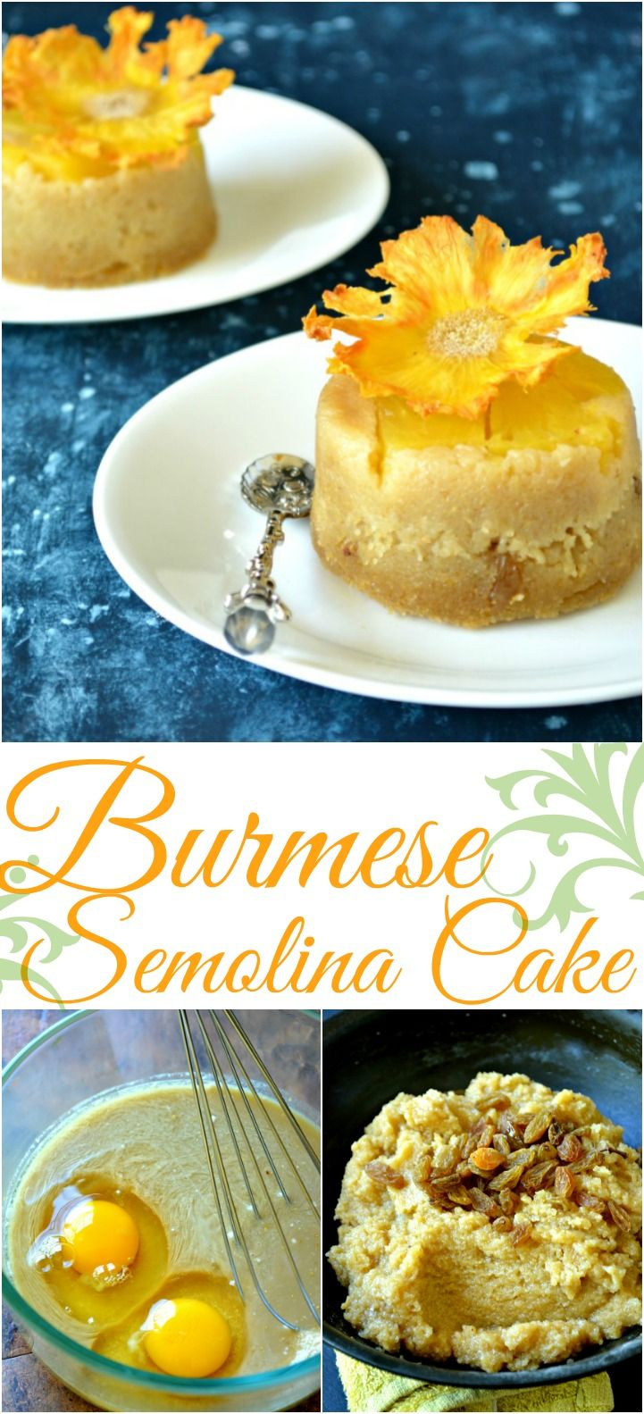 Burmese Semolina Cake - Sanwei Makhin/Shwe Gyi Mont/Sanwin Makhin - A simple dessert with Indian roots, this Burmese dessert is perfect with that cup of afternoon tea.