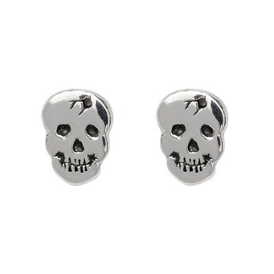 Sterling silver 'Bullet to the Head' stud earrings by Kitsune Designs $47