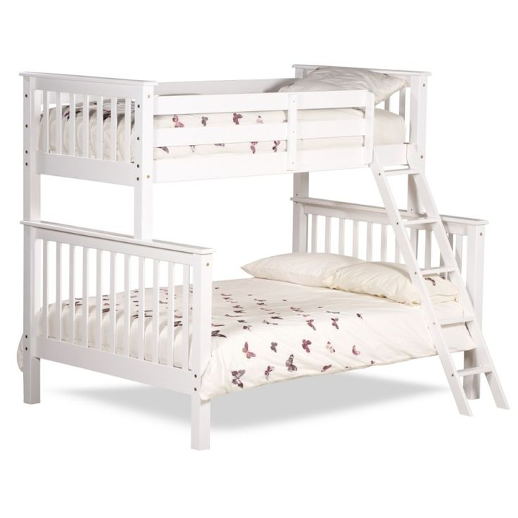 The Chiltern bed is a triple sleeper bunk bed presented in a beautiful white design which is very modern and contemporary. The bed comes with an angled ladder which makes it easier to climb upto the top of the bed.  The bed is constructed using high quality materials for increased stability and st