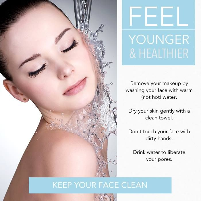 Proper cleaning is important to keep your skin young and fresh longer.