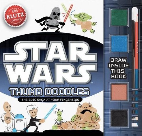 Star Wars Thumb Doodles! Awesome craft project book for kids. (Thumbprint Darth = not all that threatening.)
