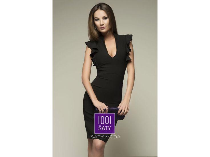 společenské pouzdrové šaty Tessa Black