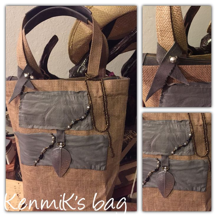 Handmade bag in jute with leather finishing. Made in Kenya with Italian designer