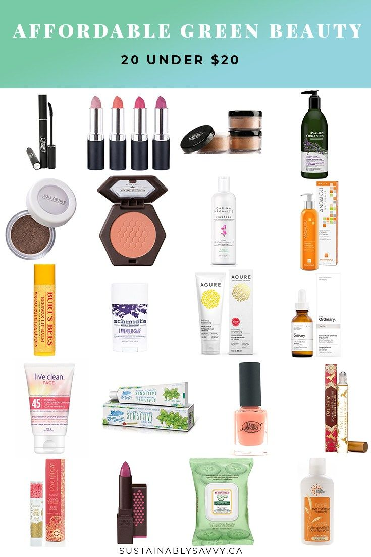AFFORDABLE GREEN BEAUTY 20 UNDER $20 | green beauty