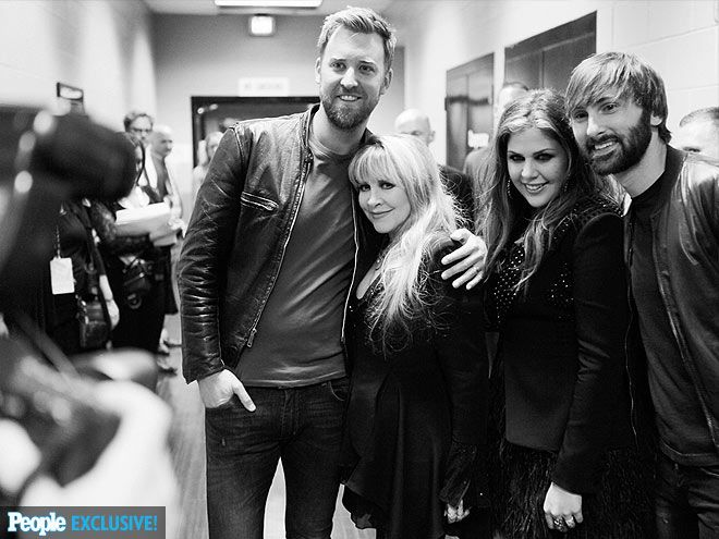 """crystallineknowledge: """"""""Stevie and Lady Antebellum photographed backstage at MGM Grand Garden Arena before the ACM Awards - April 6, 2014. """" """""""