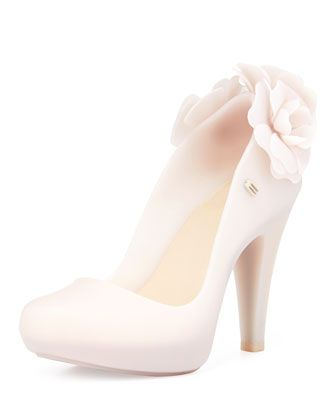 This is interesting. Never seen a jelly pump before. Melissa Shoes Floral PVC Jelly Pump, Beige - Neiman Marcus Last Call