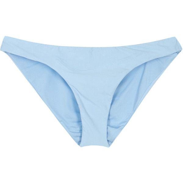 PilyQ Isla Ruched Bikini Briefs - Size M ($125) ❤ liked on Polyvore featuring intimates, panties, pilyq, scrunch bikini bottoms, swim bikini bottoms and ruched bikini bottom