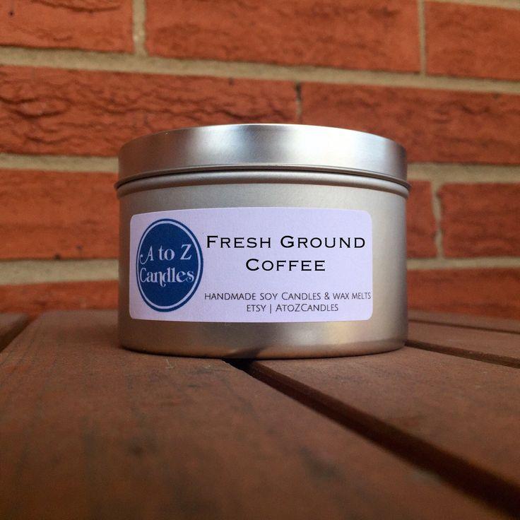 No. 948   FRESH GROUND COFFEE   Natural Soy Candle   2 oz, 4 oz, 8 oz, 16 oz Tin or Tea Lights   Hand Poured   Vegan   Eco-Friendly by AtoZCandles on Etsy https://www.etsy.com/listing/269825540/no-948-fresh-ground-coffee-natural-soy