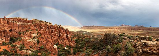 Panorama of Arches National Park, Utah