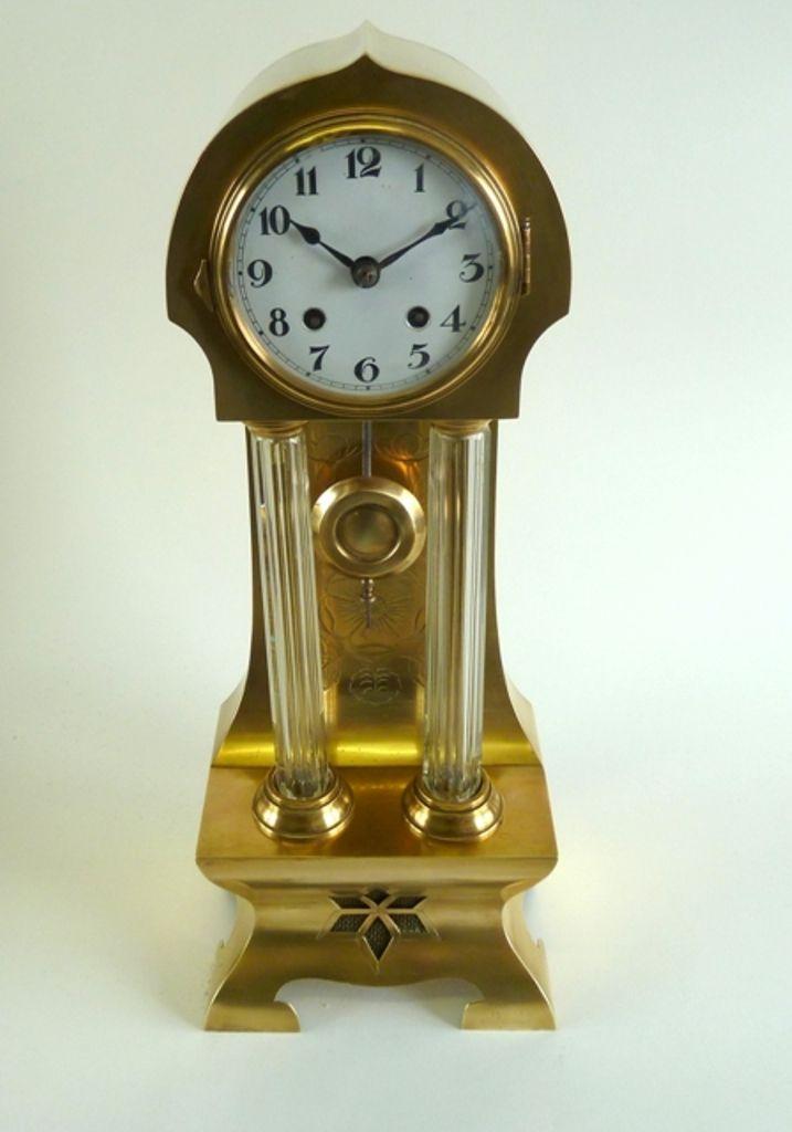 art nouveau-jugendstil original brass clock  https://www.etsy.com/listing/189512533/art-nouveau-jugendstil-original-brass?