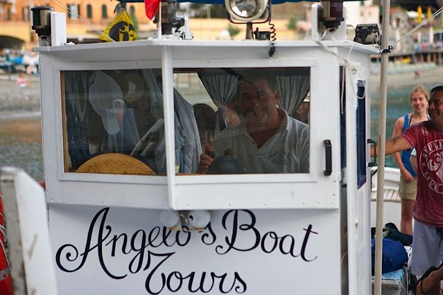 Angelo's Boat Tours--  5 hour boat tour of the Cinque Terre region in Italy.  Beautiful views, stops for swimming and lots of prosecco.  A seafood lunch at a local restaurant is included in the price.  Made for an amazing day!