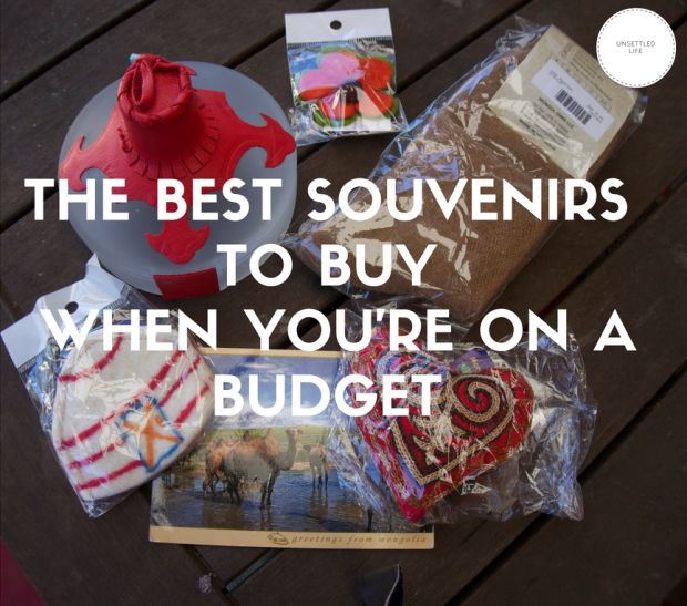 Souvenirs to buy on a trip when you for travel on a budget. Round of of travel gifts!