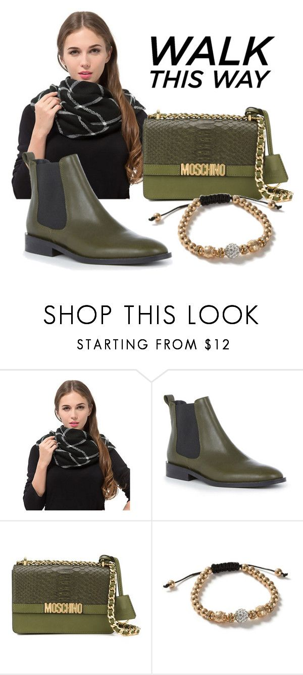 """""""Green Chelsea Boots"""" by atpstudio ❤ liked on Polyvore featuring Warehouse, Moschino and Topman"""