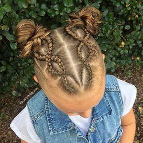 space buns! Inspired by @lesya_zherdeva #behindthechair #btconeshot_braids17 #braid #braids #spacebuns #messybuns #bun