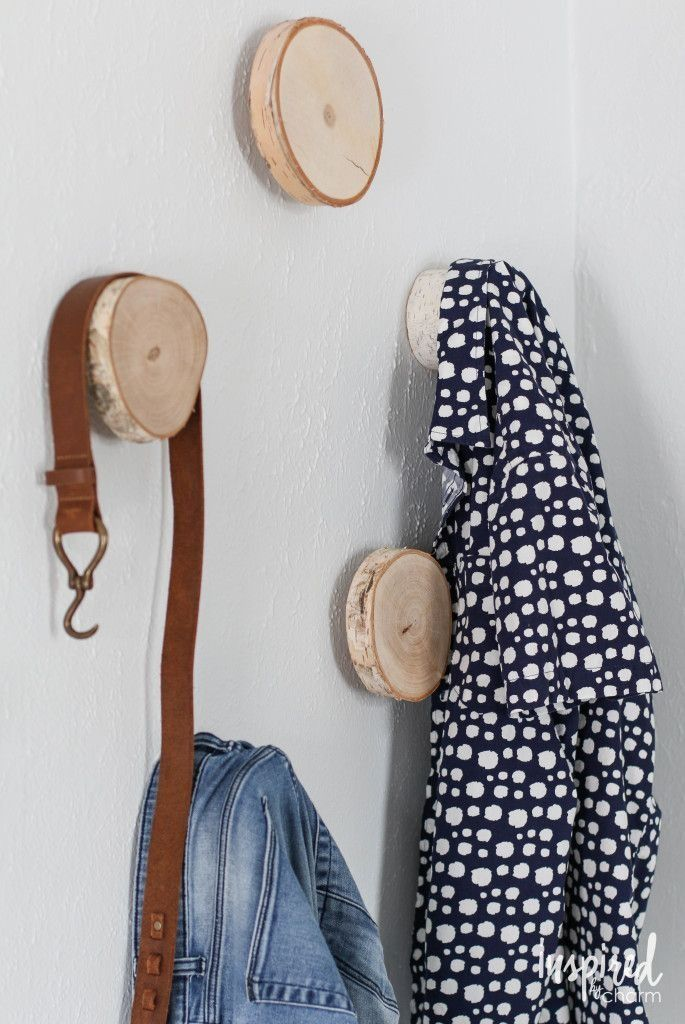 Give yourself a convenient and stylish place for clothes and accessories to land with these DIY birch hooks. Michael Wurm gives us the project, step by step!